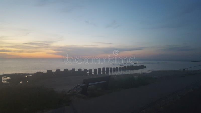 Lossiemouth海鳗峡湾 免版税库存图片