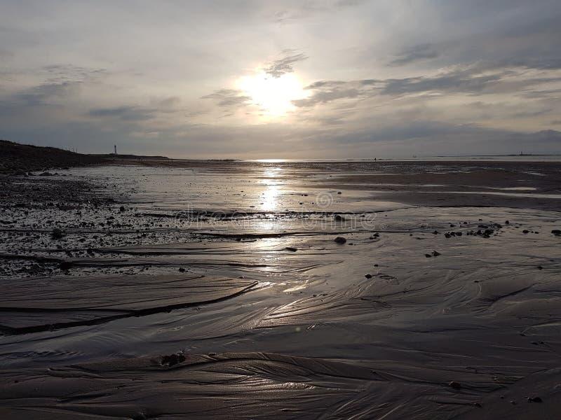 Lossiemouth西部海滩 免版税图库摄影