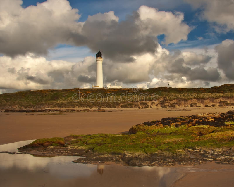 Lossiemouth - Covesea Lifghthouse lizenzfreie stockfotografie
