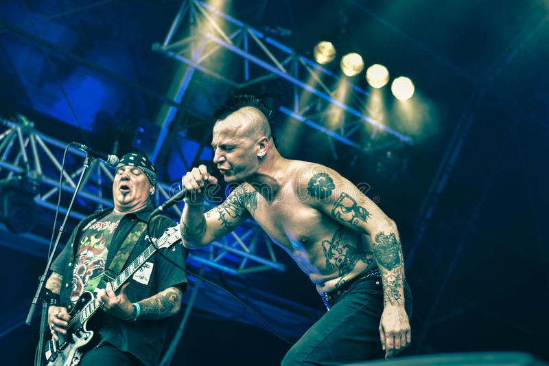 Lossing in Hellfest 2016, stock foto's