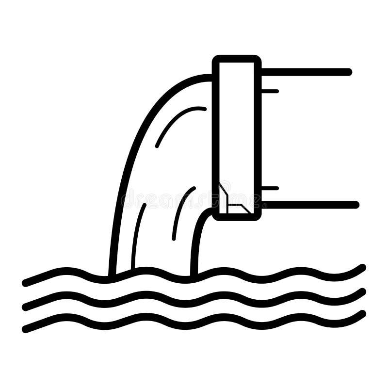Lossing van vloeibaar chemisch afval stock illustratie