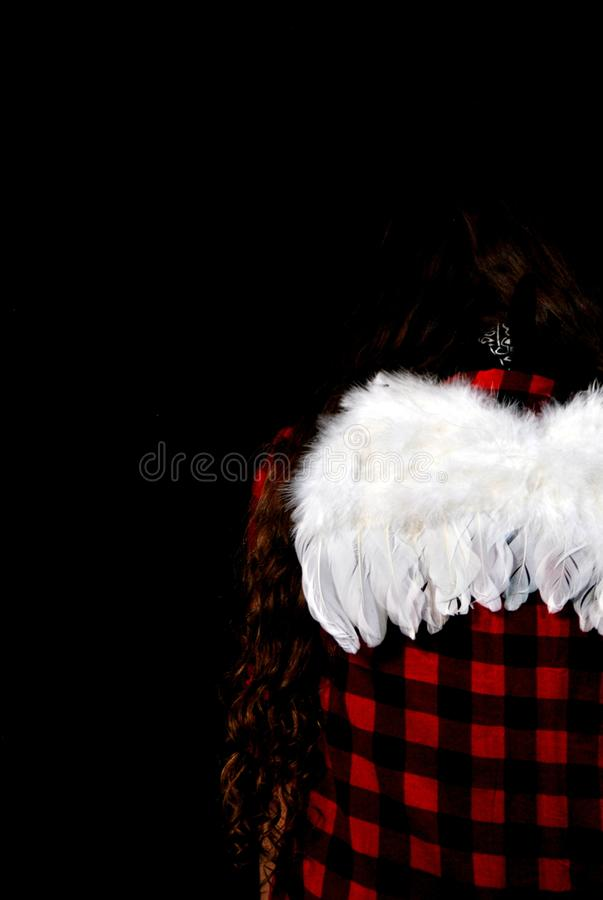 Lost Angel in the madness world. Lost Angel in the madness. Sadness, girl stock images