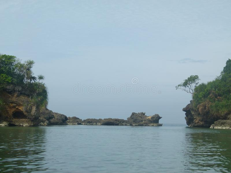 Lost in the blue, Philippines royalty free stock photography