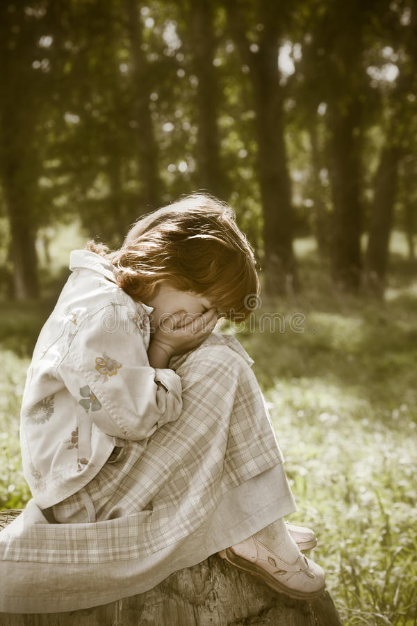 Lost child stock photography