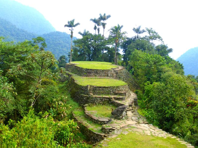 Lost City in Santa Marta in Colombia stock photography
