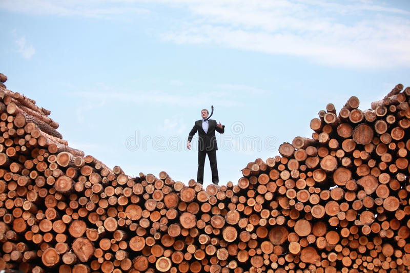 Lost and confused caucasian business man somewhere stock photo