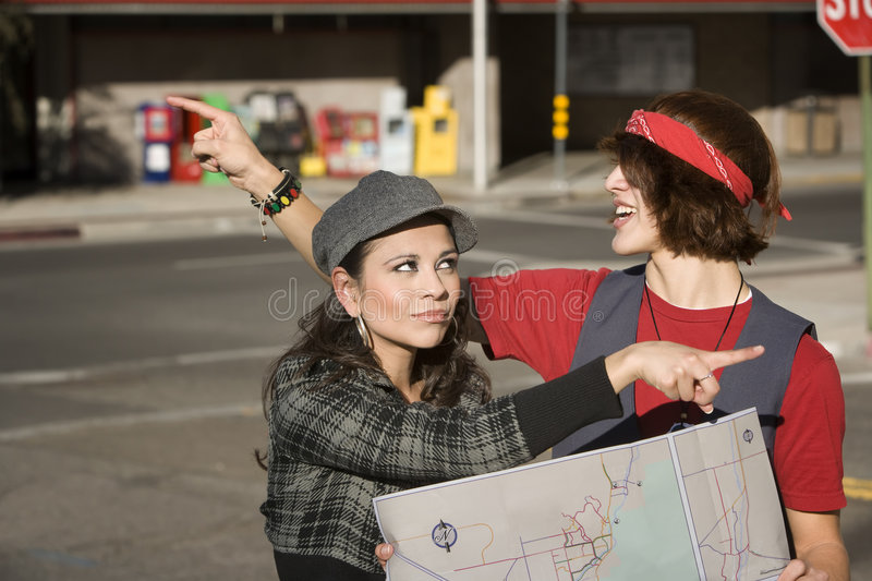 Download Lost Couple stock photo. Image of hispanic, pretty, vacation - 7659360