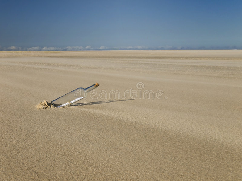 Lost in a desert royalty free stock photography