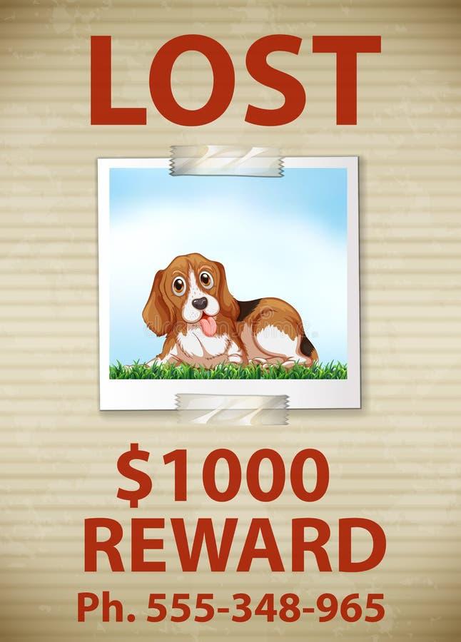Lost Dog royalty free illustration