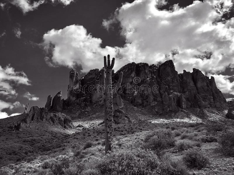 Lost Dutchman State Park. Is a 320-acre state park located near the Superstition Mountains in central Arizona, USA, and named after the Lost Dutchman`s Gold stock image