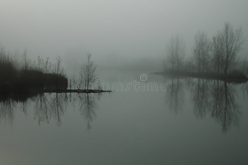 Lost in the fog royalty free stock photo