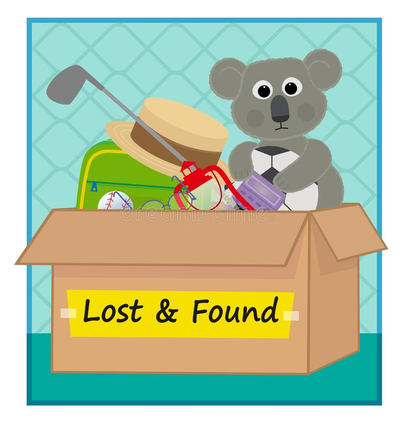 Lost and Found royalty free illustration