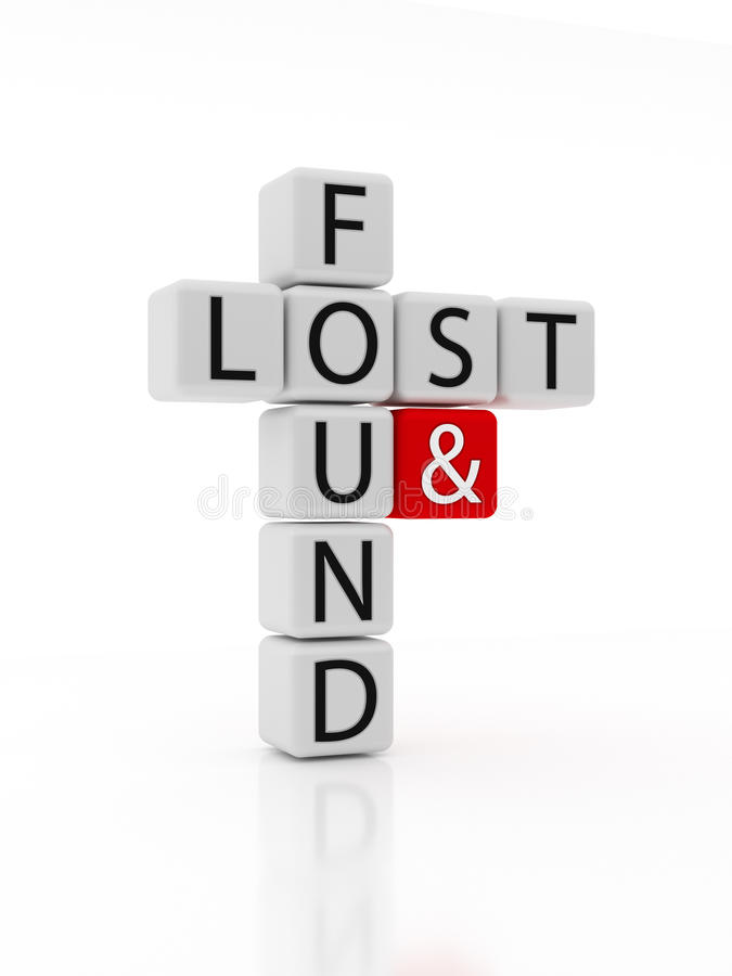 Lost and Found Puzzle stock images