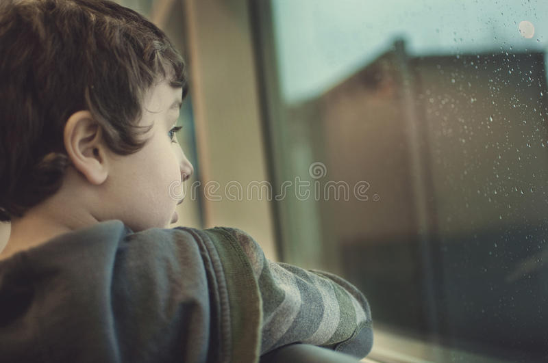 Lost in his thoughts royalty free stock image