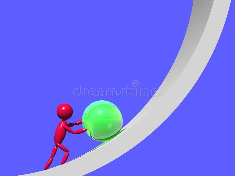 Lost labour. Wasted labour (3d render image vector illustration