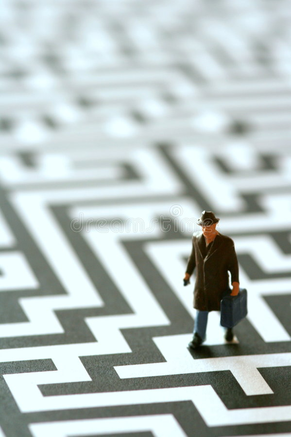 Lost in the labyrinth royalty free stock photos