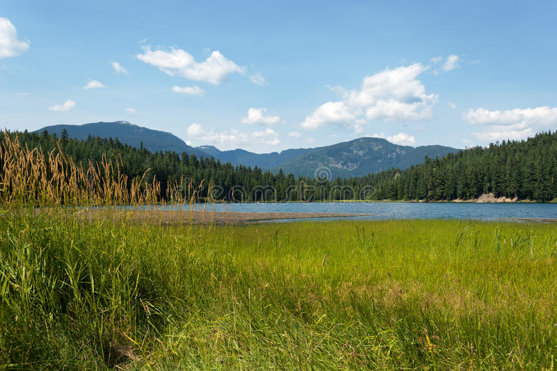 Lost Lake, Whistler, Canada. This image shows Lost Lake, in Whistler, Canada stock image