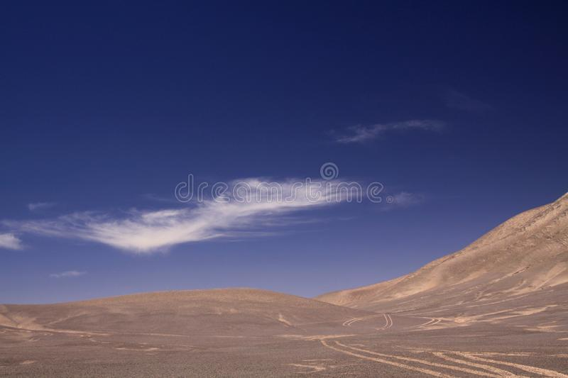 Lost in the Landscapes of Atacama desert stock images