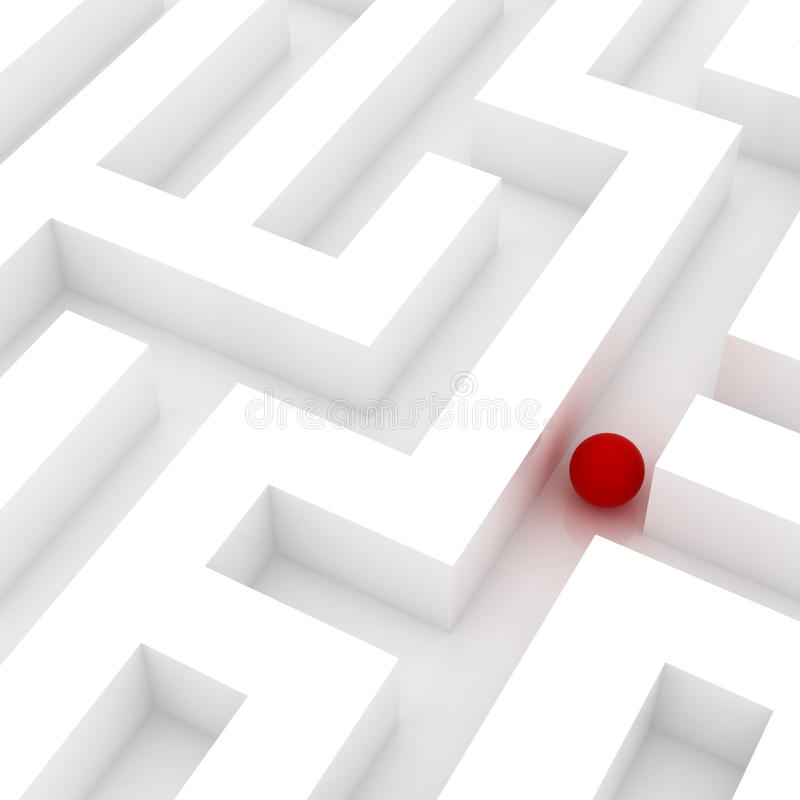 Download Lost in a maze stock illustration. Image of challenge - 19656298