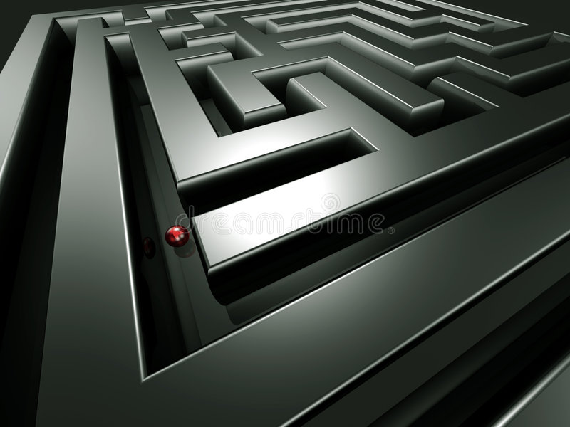 Download Lost in the maze stock illustration. Image of courageous - 8428425