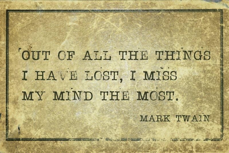 Lost mind Twain royalty free stock photo