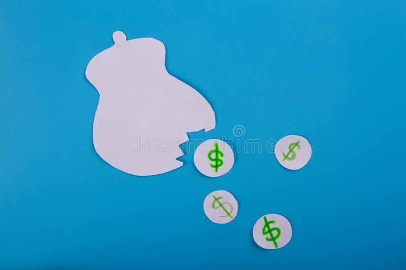 lost money concept stock photography