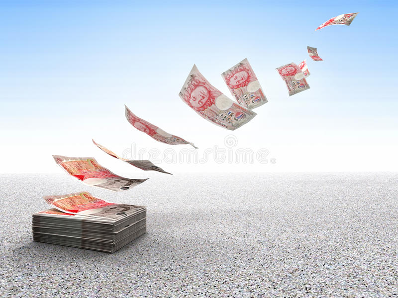 Lost money vector illustration
