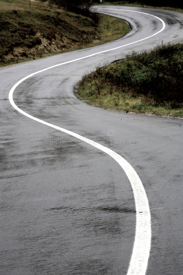 Lost mountain road. In Maramures, Romania stock photos
