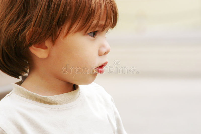 Lost poor little child stock photography