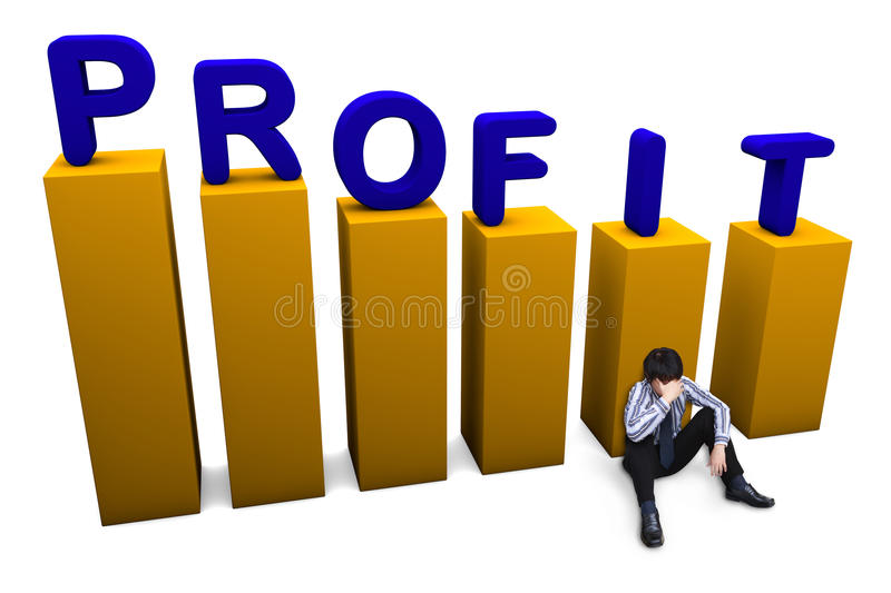 Lost in profit concept stock images