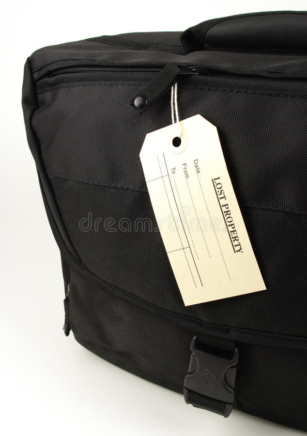 Lost Property Black Bag Royalty Free Stock Photography