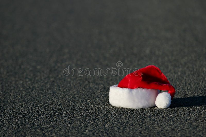 Lost Santa Hat Royalty Free Stock Photography