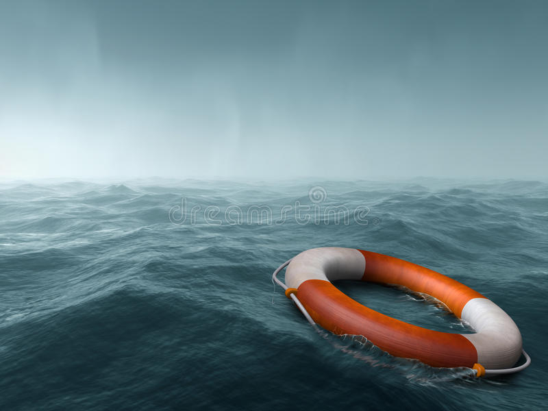 Download Lost at sea stock illustration. Illustration of saver - 39180142