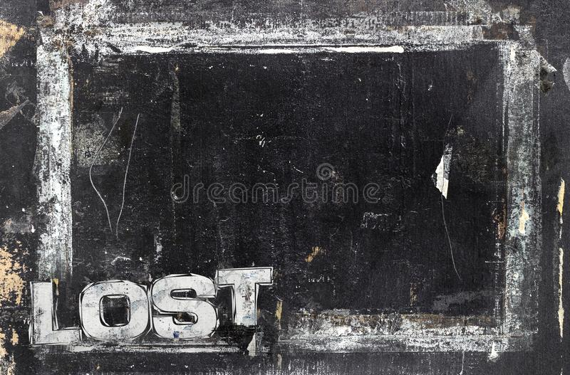 Lost sign template stock photography