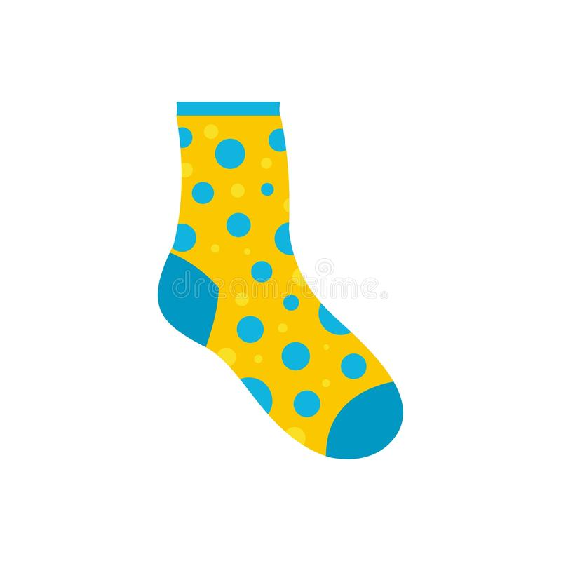 Lost sock icon, flat style. Lost sock icon. Flat illustration of lost sock icon for web vector illustration