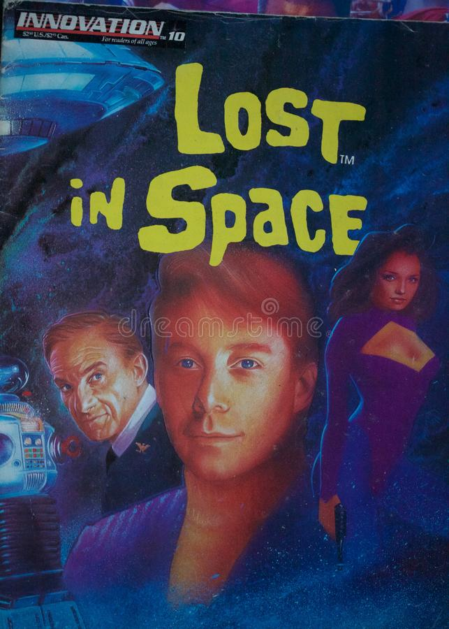 Lost In Space comic based on the popular tv series. Of the same name, recently remade into a new series by Netflix stock photos