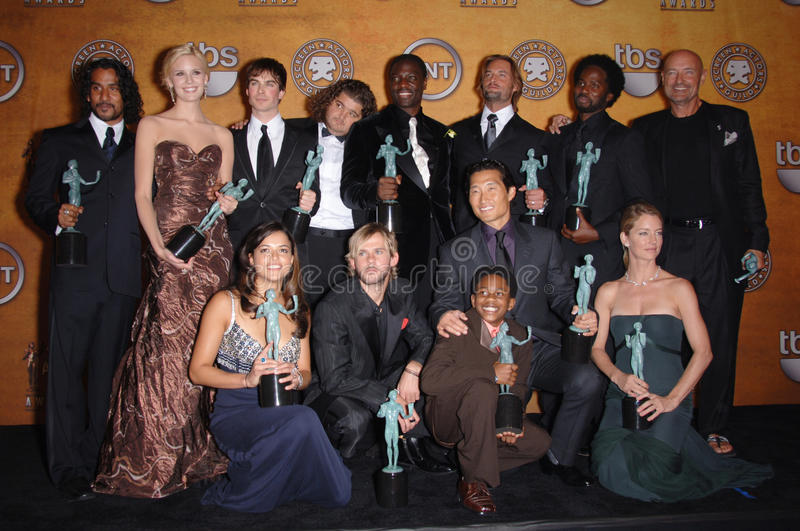 Lost stars. Cast of TV series LOST at the 12th Annual Screen Actors Guild Awards at the Shrine Auditorium, Los Angeles. January 29, 2006 Los Angeles, CA. 2006 stock photography