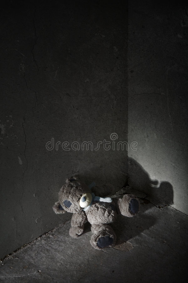 Lost teddy bear stock photos