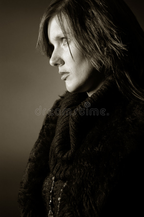 Lost in thoughts royalty free stock photography