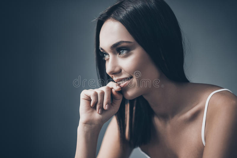 Lost in thoughts. stock photo