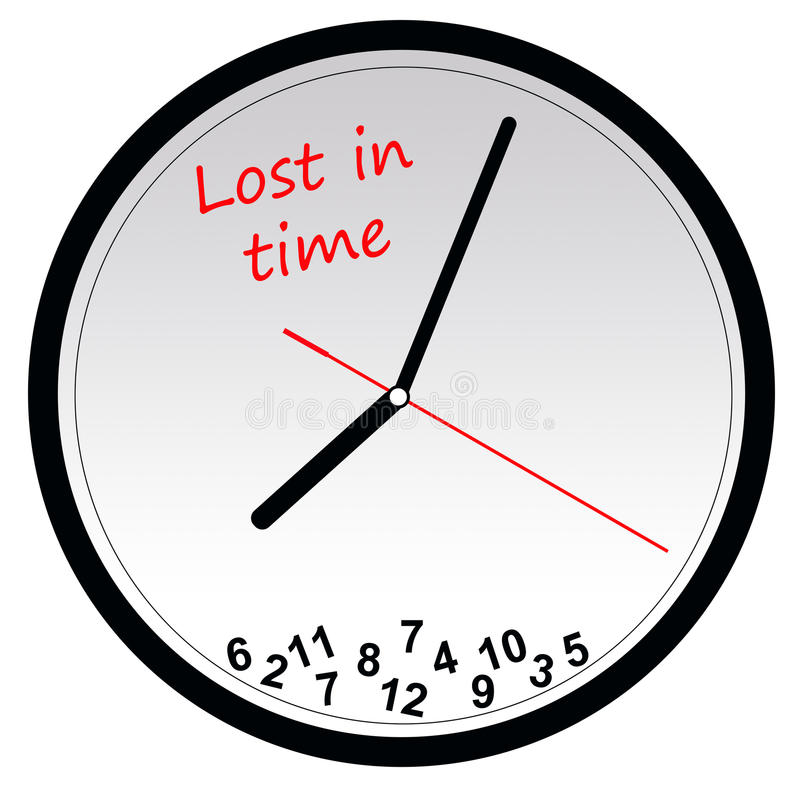 Download Lost in time stock illustration. Illustration of hours - 15710706