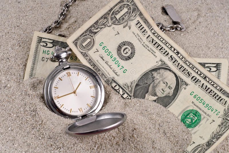 Lost Time and Money. Concept stock photo