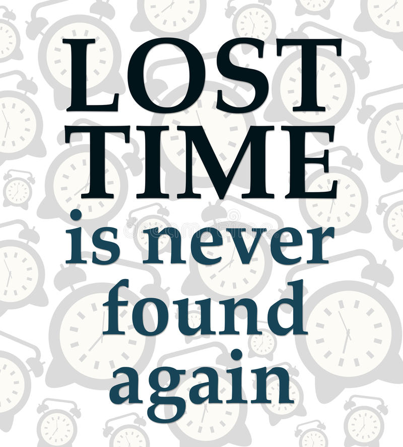 Lost time stock illustration