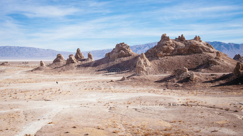 Lost in Trona pinnacles stock images