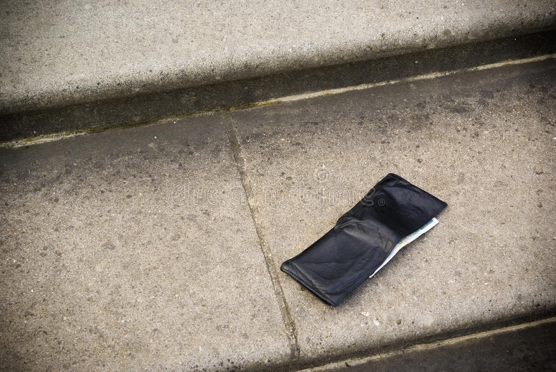Lost wallet stock image