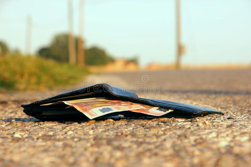 Lost wallet royalty free stock photography