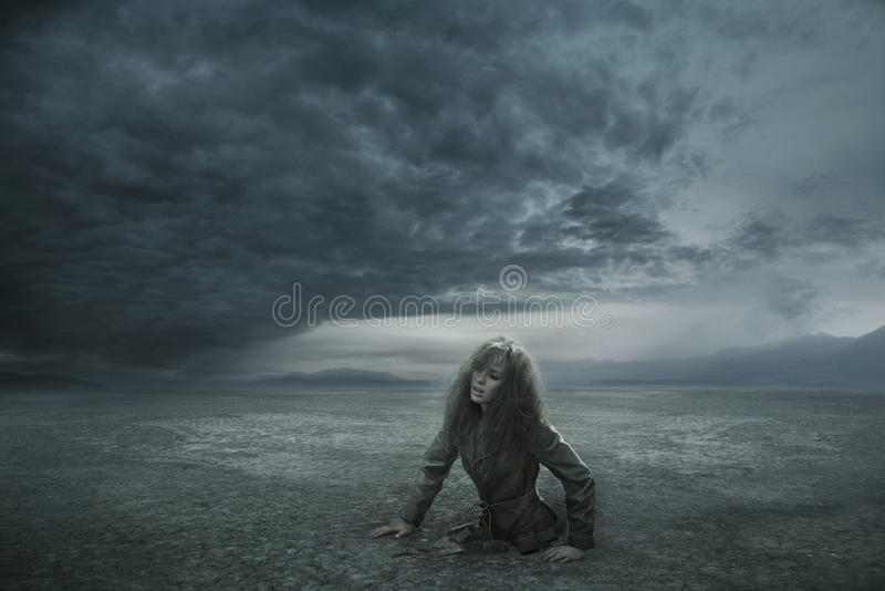 Download Lost woman stock image. Image of dark, girl, alone, nothing - 18526233