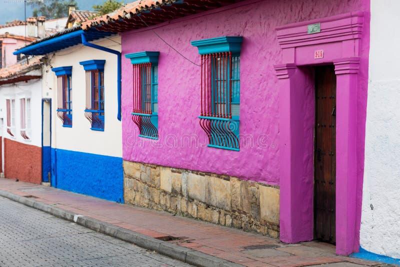 Losu Angeles Candelaria kolorowe ulicy Bogota Kolumbia zdjęcie stock