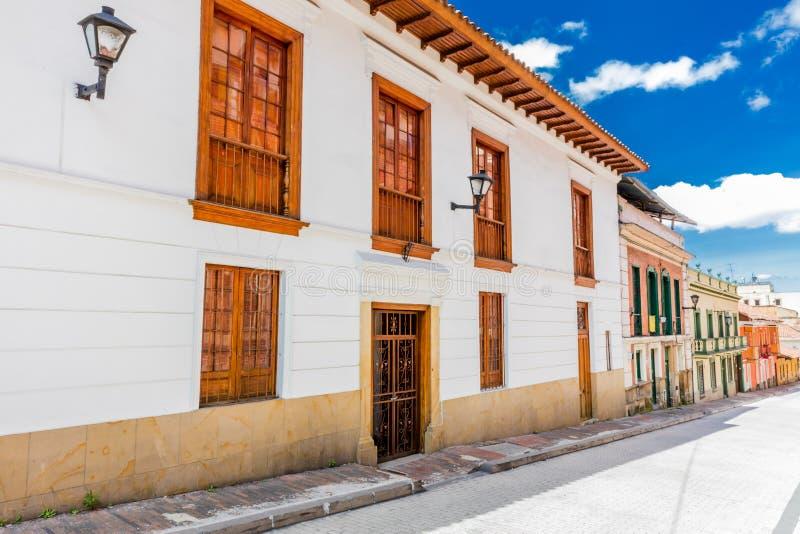 Losu Angeles Candelaria kolorowe ulicy Bogota Kolumbia obraz stock