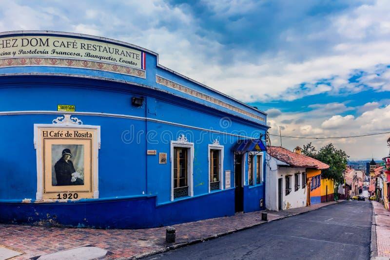 Losu Angeles Candelaria kolorowe ulicy Bogota Kolumbia zdjęcia royalty free